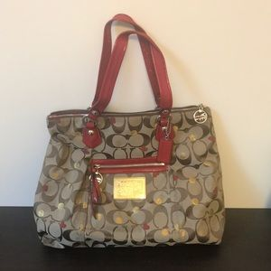 Coach Poppy tote! Large tote!